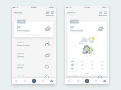 Task, Memo, Schedule, Weather & etc. 비슷한 명도의 면 레이어링