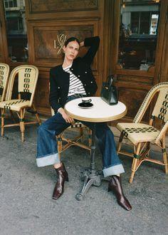 Leather Shorts, Leather Ankle Boots, Blazer En Cuir, Blouson Denim, Jean Parfait, Le Catch, Floral Pleated Skirt, Campaign Fashion, Jackets