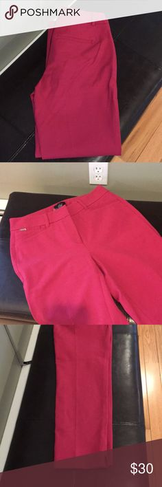 Size 0R Slim Ankle Pants White Black Co Rosey These lovely Rosey colored (like cranberry) slim ankle pants are sized zero regular. The material is very stretchy! Moves as you do! New with tags! Regular retail $79 on sale for $59! But nothing beats my price! White Black Pants Ankle & Cropped