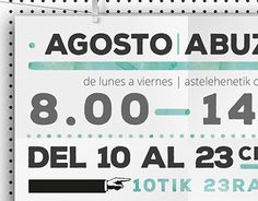 """Check out new work on my @Behance portfolio: """"Summer Schedule - Copy Tec (Tolosa)"""" http://on.be.net/1OcTrlB"""