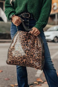 All Eyes On You Leopard Tote • Impressions Online Boutique Leopard Handbag, Leopard Tote, Leopard Pattern, All About Eyes, Online Boutiques, Knit Cardigan, Boutique Clothing, Perfect Fit, Two By Two