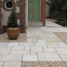 Paving Superstore Pro Range-Sawn Sandstone-Buff Neutral-PAVING SLABS, SINGLE SIZE OPTIONS