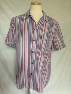 Armani Jeans AJ mens shirt colorful stripes short sleeves made in Italy size XXL   eBay