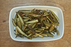 See how to turn fresh okra into a delicious side dish by simply roasting it in a hot oven and letting its natural flavor shine.