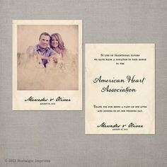 Cherish Wedding Favor Donation Card By NostalgicImprints On Etsy 104 Via
