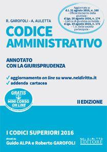 CODICE AMMINISTRATIVO. ANNOTATO 2016