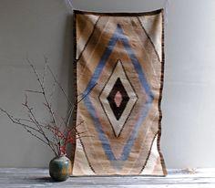 Vintage Southwestern Woven Rug by LittleDogVintage on Etsy