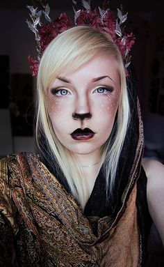 Another variation of the fawn makeup Halloween Looks, Halloween Cosplay, Halloween 2018, Halloween Ideas, Halloween Costumes, Cool Costumes, Cosplay Costumes, Fairy Costumes, Crazy Makeup