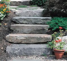 Whether it's getting from your deck to the yard or if you've got a large hill in the back, it's always nice to have a sleek set of stairs that not only look good but tie your whole yard together. Instead of spending money on landscapers and contractors, choose one of these... #backyard #diy #garden