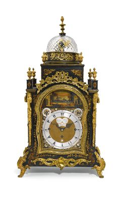 A gilt-mounted black japanned musical automaton table clock for the Turkish market, George Prior, London, circa 1785