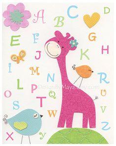 Baby room wall art Nursery wall art Decor Children by DesignByMaya, $17.00