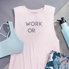Love this saying and the colors Workout Attire, Workout Outfits, Workout Wear, Workout Style, Workout Tops, Yoga Wear, Gym Wear, Fitness Outfits, Fitness Fashion