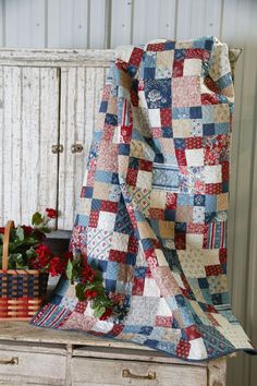 Image result for red white and blue quilt