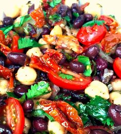 Beautiful Balela Salad - Recipe, Gluten Free, Delicious, Healthy, Versatile, Appetizers, Quick, Easy, Vegetarian