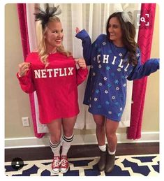 netflix and chill diy halloween costume for teen girls