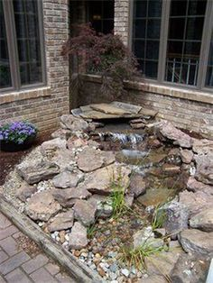 41 Fantastic Little Waterfall Pond Landscaping Ideas Backyard . - 41 fantastic little waterfall pond landscaping ideas back yard - Small Water Features, Outdoor Water Features, Water Features In The Garden, Backyard Water Feature, Ponds Backyard, Backyard Ideas, Sloped Backyard, Backyard Patio, Desert Backyard