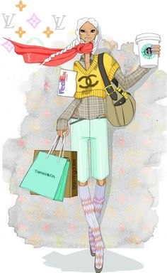 fashion illustration #chanel #jumper #shopping
