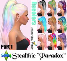 "Sims 4 CC's - The Best: Stealthic Hair ""Paradox"" Recolors by Annett85"