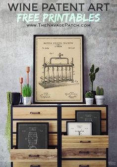 Free Wine Patent Art