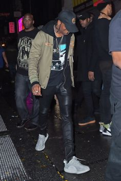 Celebrities Wearing Yeezy Boost Sneakers: Travis Scott