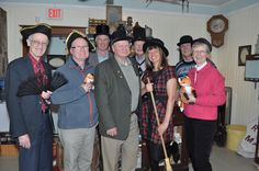 After the AGM the new executive had a little fun with the props in the Village Store! Front row: John Curry, Ken Cownley, Phil Sweetnam, Casey McLaughlin, Linda Preston. Back row: Frank Argue, Keith Hobbs and Bram Blenk. Absent: Glendon Moore.