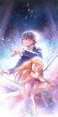 """""""Arima Kousei"""" """"Miyazono Kaori"""" Shigatsu wa kimi no uso Manga Anime, Anime Body, Art Manga, Anime Art, Noragami, Vocaloid, I Love Anime, Me Me Me Anime, Real Anime"""