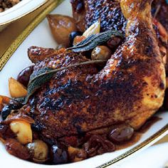 Chicken with Olives, Caramelized Onions, and Sage Recipe   Epicurious