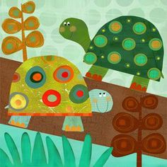 Fun Turtle Wall Decor.  This would go great in a little boy's room.