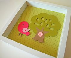 Pink Baby Bird Kid's / Children's Room by LittlePeaPodCrafts, $20.00