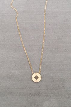 Dainty Compass Necklace $10.... I love this! Been looking for a little gold necklace If it was real it would be perfect!!!