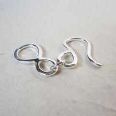 Medium Sterling Silver Hook and Eye Clasp. $6.00, via Etsy.
