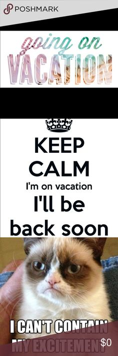 Going on Vacation as of October 13th Hi everyone, I will be going on vacation as of October 13th. This will be the last day I will be able to ship out any orders placed. I won't be back until October 17th and can ship again on that day. I will have my closet on Vacation mode between the 13th-17th but please feel free to make offers as I will still be checking in from time to time. You can still purchase items they just won't ship out until the 17th. Thank you all for reading and your…