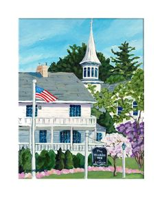 """Hillside Memories"" reproduction print of an acrylic painting by Barb Timmerman."