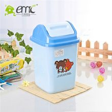 2061 Plastic square dustbin with lid