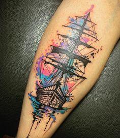 Pirate Tattoo Sleeve, Ship Tattoo Sleeves, Nautical Tattoo Sleeve, Sleeve Tattoos, Nautical Tattoos, One Piece Tattoos, Pieces Tattoo, Body Art Tattoos, Tattoos For Guys