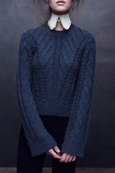 """Aby Pullover - Kim Haller  Kim Haller is a knitwear designer. """"Kim has designed knitwear for some of the leading names in fashion, including Derek Lam, Jason Wu, TSE Cashmere, Maiyet, Costello Tagliapietra, Adam Lippes, DKNY, Adrienne Vittadini, Anne Klein and many more"""""""