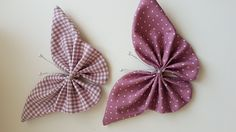 Making Hair Bows, Diy Hair Bows, Diy Bow, Diy Ribbon, Ribbon Crafts, Fabric Crafts, Butterfly Template, Butterfly Crafts, Hand Embroidery Videos