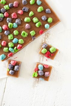 These buttery and chewy caramels have the additional twist of tasting like Crunch Berry Cereal...now you can have candy for breakfast.