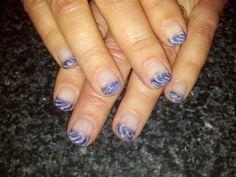 Fun french waves nail art