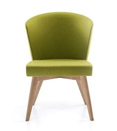 Merging style with comfort, this chair displays a contoured backrest with a minimal elegant look. Timeless style for your office. This chair will fit harmoniously with any style of your office and study area. Study Areas, Wooden Leg, Home Comforts, Office Chairs, Chair Design, Timeless Fashion, Minimalism, Upholstery
