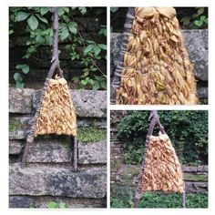 Branch Woven Wall Hanging in Gold Vibrant Colors by OurCraftedLife