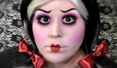 Halloween make-up tutorial Creepy Doll Halloween Costume, Creepy Dolls, Scary Halloween, Halloween Cosplay, Halloween Ideas, Halloween 2013, Halloween Party, Scary Doll Makeup, Costume Makeup