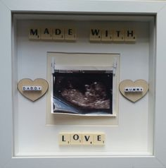 Check out this item in my Etsy shop https://www.etsy.com/uk/listing/242498528/made-with-love-12-week20-week-baby-scan
