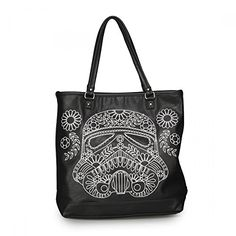 Women's Top-Handle Handbags - Loungefly Star Wars Storm Trooper Stitch Floral Tote * Check out the image by visiting the link.