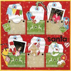 Bo Bunny Dear Santa 12x12 Paper Lot. 12 double sided scrapbook papers. Dear Santa. |