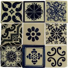 """9 Hand Painted Talavera Mexican Tiles 9 Hand Painted Talavera Mexican Tiles 4""""x4"""" Spanish Influence from Casa Day Tile  amazon.com  1 customer review   Price:$14.99 + $9.49 shipping"""