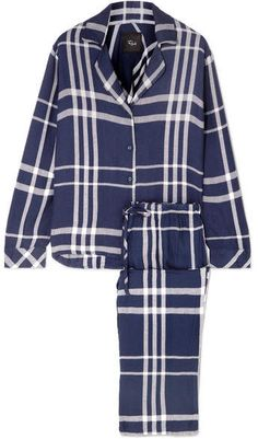 DKNY Too Good To Give Checked Fleece Pajama Set - Black  Give ... 896e9fc7e