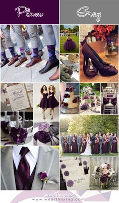 Top 20 Wedding Color Combinations of All-Time Emerald Wedding Theme, Plum Wedding, Wedding Prep, Wedding Goals, Wedding Bridesmaids, Wedding Themes, Wedding Planning, Dream Wedding, Wedding Decorations