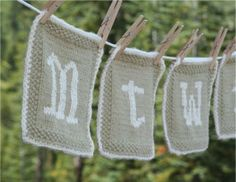 Organic Dishcloth Pattern