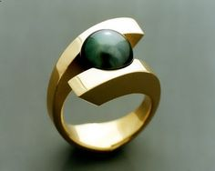 Unusual ring - not sure if i like how modern this is but it is a different design!